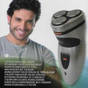 Rasoir électrique Rechargeable 3 Têtes pour homme Rasoir rasoir Facial
