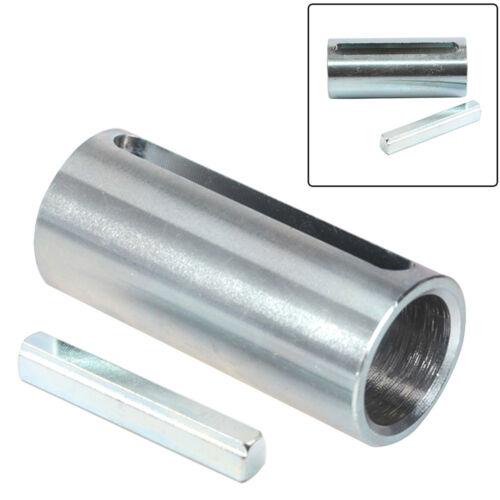 "3//4/""x 1/"" x2.3/"" Shaft Adapter Pulley Bore Reducer Sleeve Bushing W//Step Key Steel"