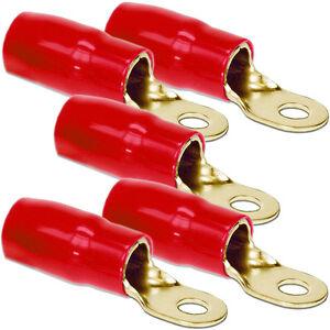 5 Stück Kabelschuhe - DIETZ 27642 Kabelschuh Ringöse rot 35mm² / d= 8,5mm