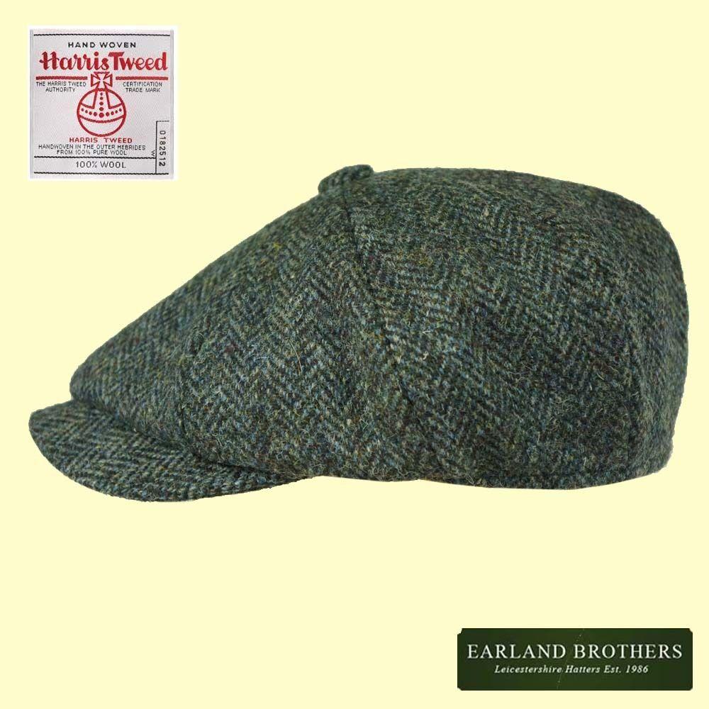 Failsworth Harris Tweed Cap David Beckham Newsboy Blinders Cap Peaky Blinders Newsboy Blue/Grey f815ae