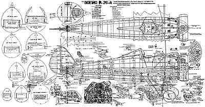 Boeing P26 Peashooter Piani Modello R/c Scala-mostra Il Titolo Originale Possedere Sapori Cinesi