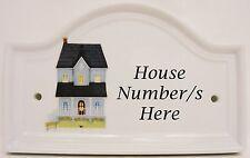 Mayfair casa blu numero di porta targa ceramica casa segno porta un numero qualsiasi availab