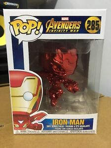 FUNKO-POP-VINILE-Flying-IRON-MAN-RED-CHROME-esclusivo-Infinity-GUERRA-con-protezione-protector