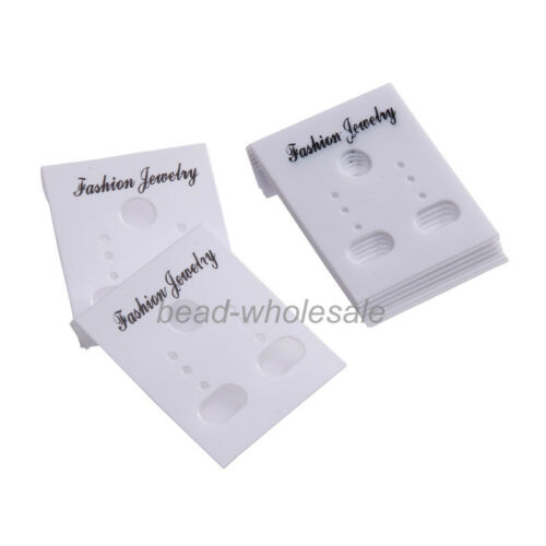 Wholesale New 100 Pcs Plastic Earring Display Cards Findings 35x30mm