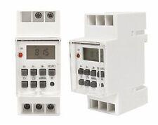 Digital Temporizador Interruptor de tiempo montaje en panel 230V Manual Alemán
