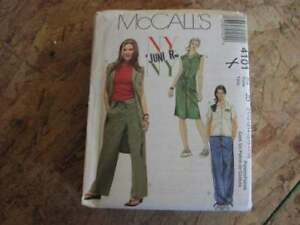 Belt and Pants   Sewing Pattern McCall/'s 4101 Junior/'s Top Dress