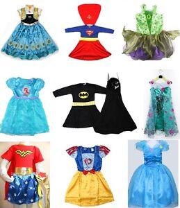NEW-Size-1-12-KIDS-COSTUMES-GIRLS-DRESS-UP-PARTY-SUPERHERO-DISNEY-TODDLER-CHILD