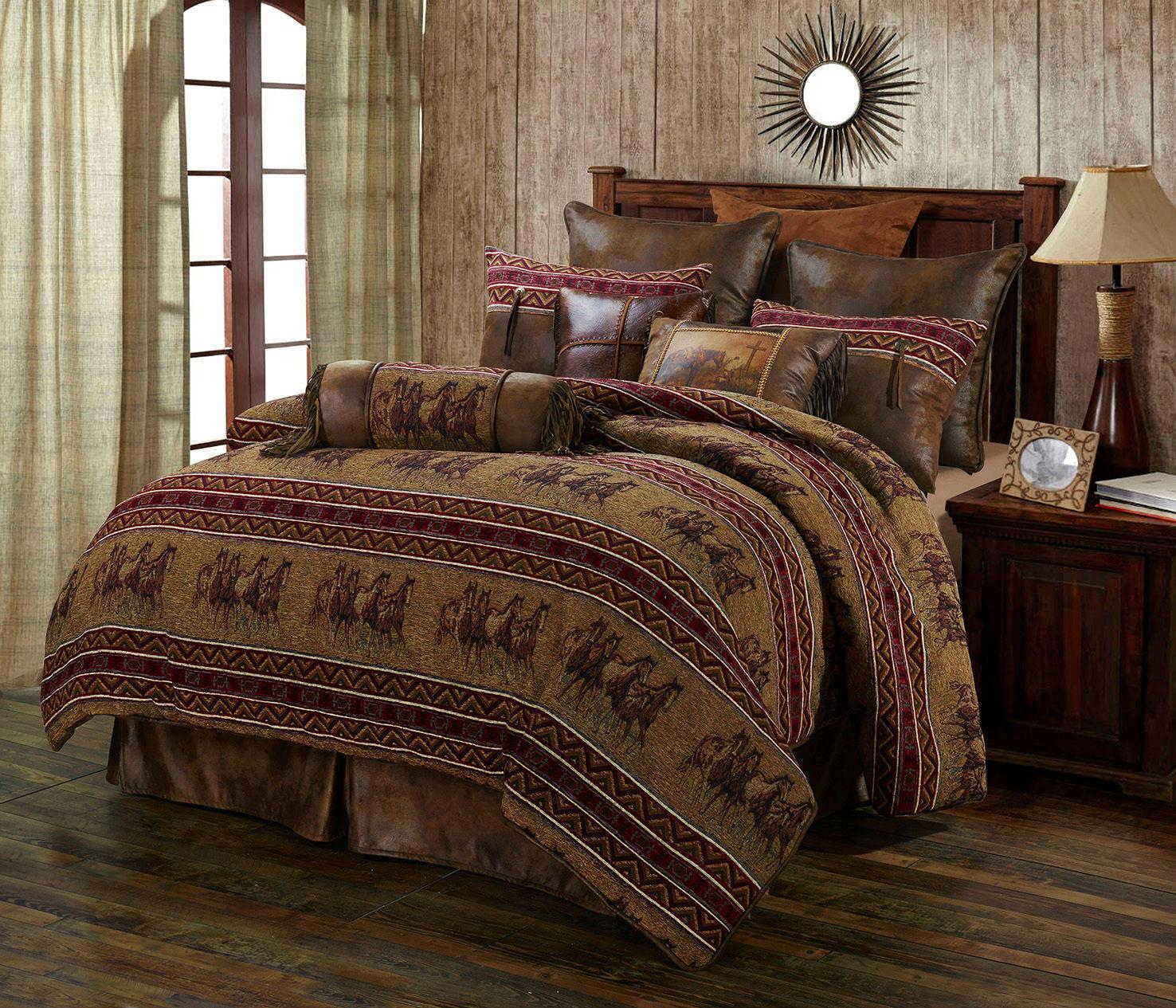 Western Horse 5 Piece Super Größe Comforter Bedding Set - FREE SHIPPING