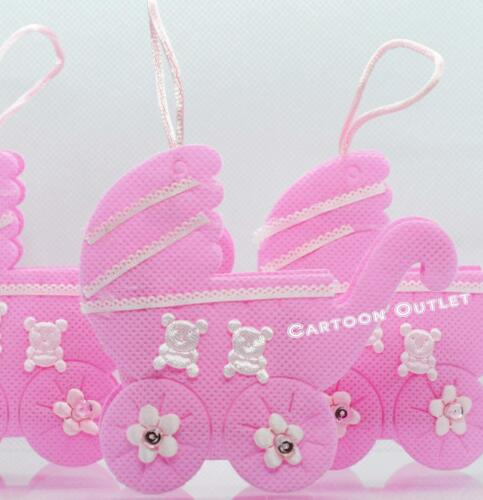24 FILLABLE CARRIAGE BABY SHOWER IT/'S A GIRL FAVORS DECORATIONS PINK RECUERDOS