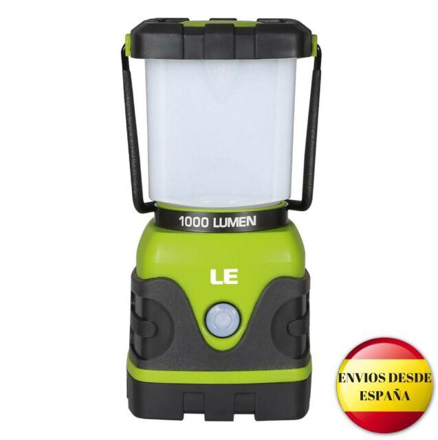Farol de camping LED 1000 lúmenes regulable 4 modos. Para pesca, excursión, jard
