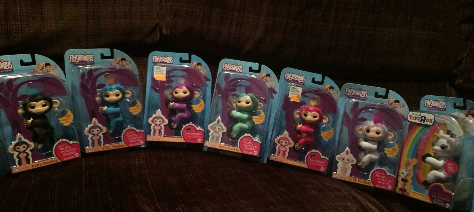 New WowWee WowWee WowWee AUTHENTIC Fingerlings Complete set 6 Baby Monkeys and GiGi Unicorn 0caf8e