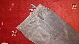 GENUINE-SUEDE-TROUSERS-1-2-lined-STRAIGHT-LEG-ZIP-FRONT-NEW-SIZE-8