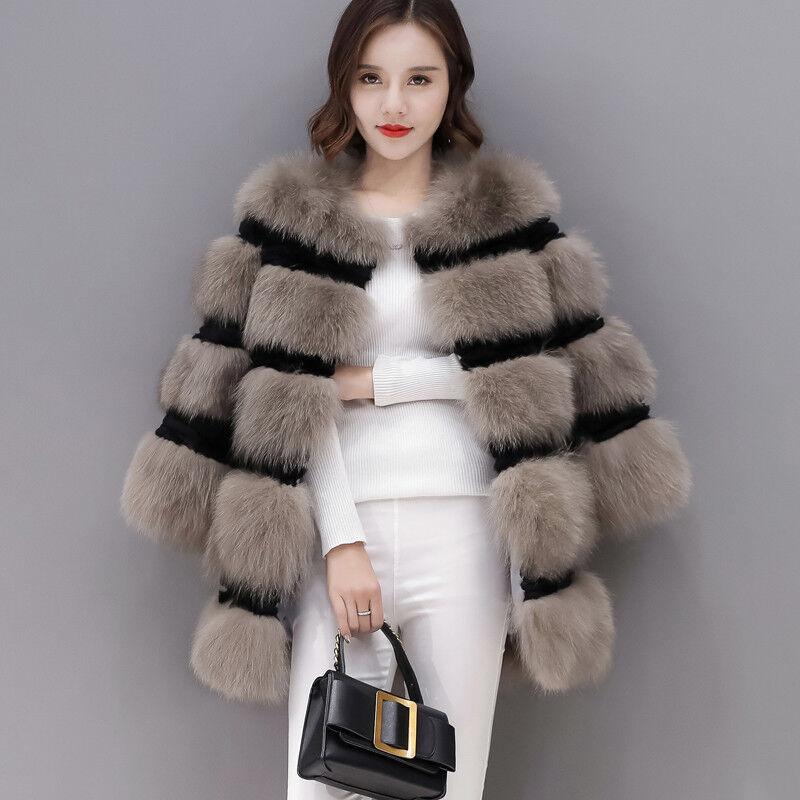 Piel Real Para Mujer  Chaqueta Abrigo Caliente Parka Abrigo de Moda de Lujo De Piel Suave  de moda