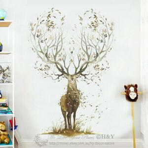 Large-Elk-Deer-Wall-Stickers-Removable-Vinyl-Decal-Kids-Nursery-Decor-Art-Mural