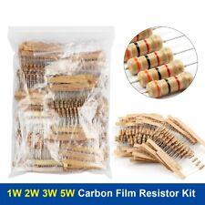 1w 2w 3w 5w Carbon Film Resistor 5 30value 01750r 1k820k Ohm Assorted Kit