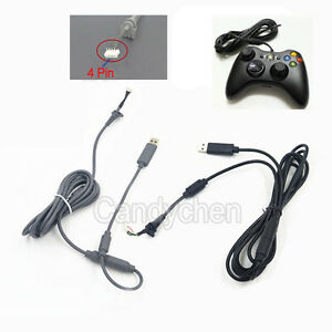 USB 4Pin Line Cord Cable +Breakaway Adapter For Xbox 360 Wired ...