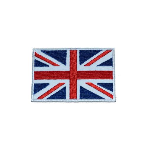 UK England Großbritannien Flagge rot//blau 8x5,5cm Bügelbild Aufnäher
