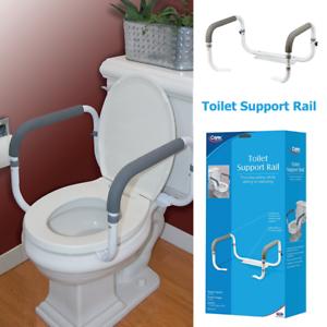 Toilet Support Rail Grab Bars Adjustable Safety Handicap Assist ...