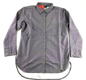 The-North-Face-Women-039-s-Front-Pocket-Purple-Long-Sleeve-Button-Shirt-Size-Large