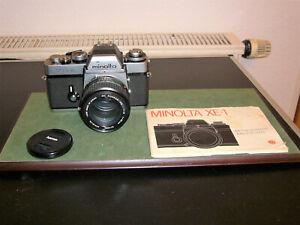 Minolta XE-1 Spiegelreflexkamera 70er Jahre MD Rokkor 1:1,4 PG 50mm u Anleitung