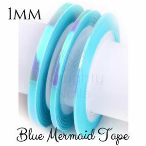 1mm-MERMAID-BLUE-Nail-Art-Opal-Striping-Tape-Line-Sticker-Roll-Rainbow-Angel-Pap