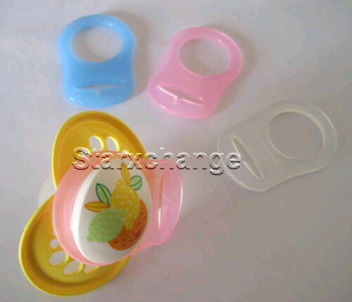 10 PLASTIC CLIPS PACIFIER D CLIPS BIB MEMO HOLDER SUSPENDER  U SELECT COLOR