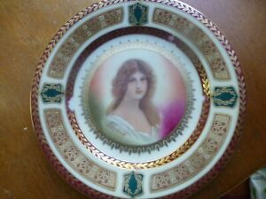 "STUNNING  ROYAL VIENNA STYLE 7 3/4""  PORTRAIT CABINET PLATE - 7 3/4 INCHES!"