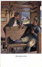 AK~1916 -Tiroler KAISERSCHÜTZE+deutscher Kamerad rauchen PFEIFE- ROTES KREUZ