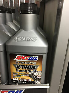 Amsoil synthetic v twin motorcycle oil sae 20w 50 1qt for Peak synthetic motor oil review