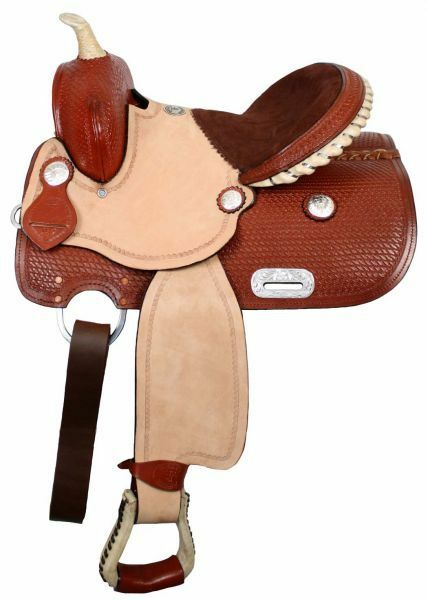 Youth Pony Saddle with 34 Half Breed Suede Leather Seat 13 NEW