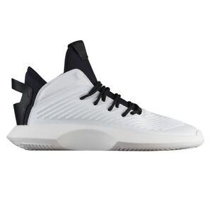 Adidas Crazy 1 ADV Mens AQ0320 White Black Leather Basketball Shoes Size 8.5