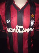 Signed Retro Massaro, Baresi And More AC Milan Home Shirt