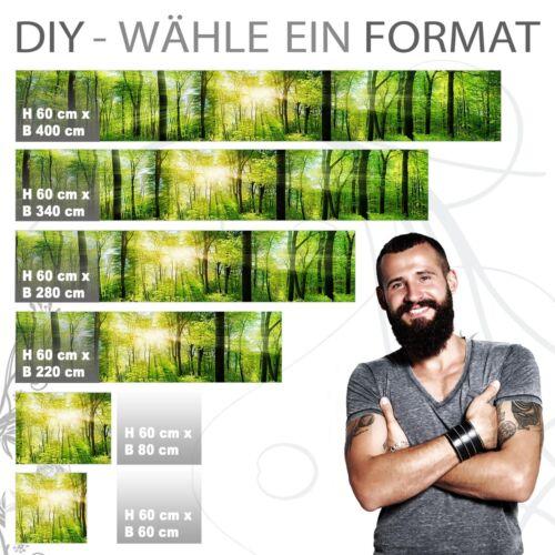 jeder Untergrund ist möglich Küchenrückwand 1.5mm Hart-Material WALD