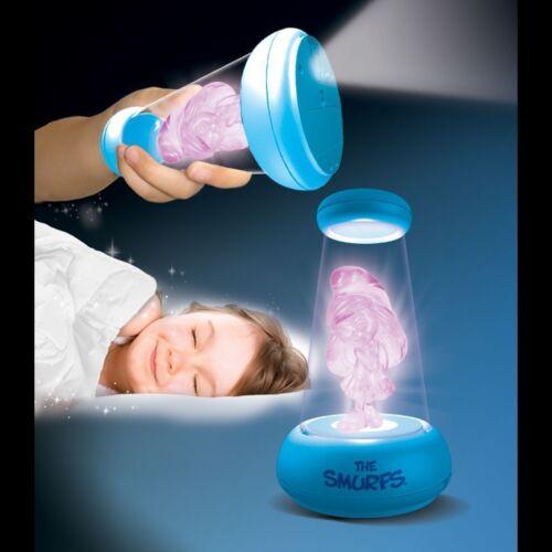 SMURFS GRAB /'N GLOW KIDS BEDSIDE 2 in 1 NIGHT LIGHT /& TORCH FLASH LIGHT