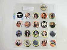 BATMAN FOREVER BY MCDONALDS  POGS/MILKCAPS  SET OF  (32+1) SHEETED AWESOME