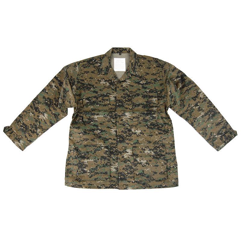 Military Tactical US BDU Army Mens Shirt USMC Marpat Digital Woodland Camo S-XXL