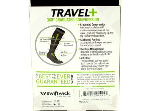 Swiftwick TRAVEL Graduated Compression WHITE Socks New Old Stock Medium