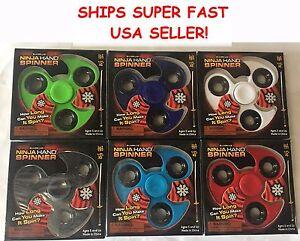 12 NINJA Tri Fidget Finger Hand Spinner Ceramic Ball EDC WHOLESALE