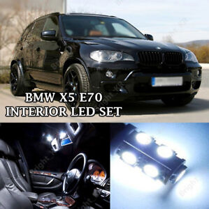 Details About Bmw X5 E70 Bright Cool White Interior Led Light Bulbs Error Free Upgrade Set