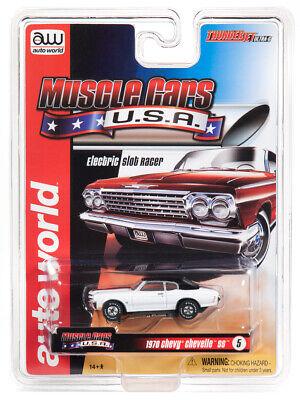 Spielzeug Obedient Auto Welt Sc340 Donner Flugzeug Ultra Kinderrennbahnen G Muskel Usa 1966 Chevy Chevel Ss Weiß