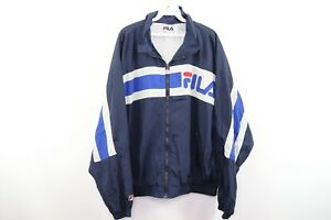 Vintage 90s Fila Mens XL Spell Out Color Block Full Zip