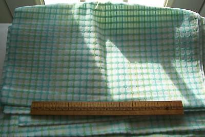 Vtg 1940/'s 100/% Cotton Lightweight Window Pane  Doll  Dress Fabric