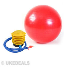 Yoga Swiss Aerobic 65CM Anti-Burst Fitness Exercise Gym Ball Maternity Pump Red