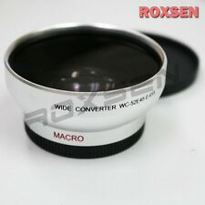 52mm 52 0.45X Wide Angle lens for DV Camcorder Sony JVC Canon Panasonic silver