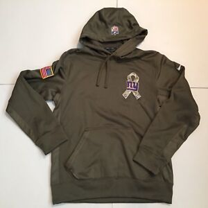 best service 75bbc 8ca3e Details about Mens Nike New York Giants NFL Salute to Service Hoodie  Therma-Fit Olive Sz S EC