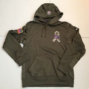 best service ebac0 60c62 Details about Mens Nike New York Giants NFL Salute to Service Hoodie  Therma-Fit Olive Sz S EC