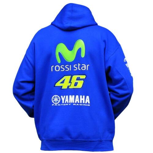 `ROSSI STAR`  movistar Moto Motorcycle Hoodie blue Sizes sm to XXL