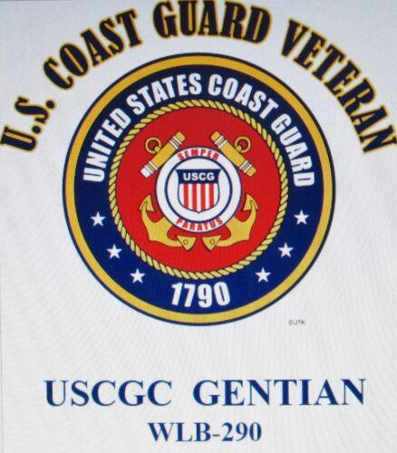 USCGC GENTIAN  WLB-290* BUOY TENDER  U.S.COAST GUARD VETERAN EMBLEM*SHIRT