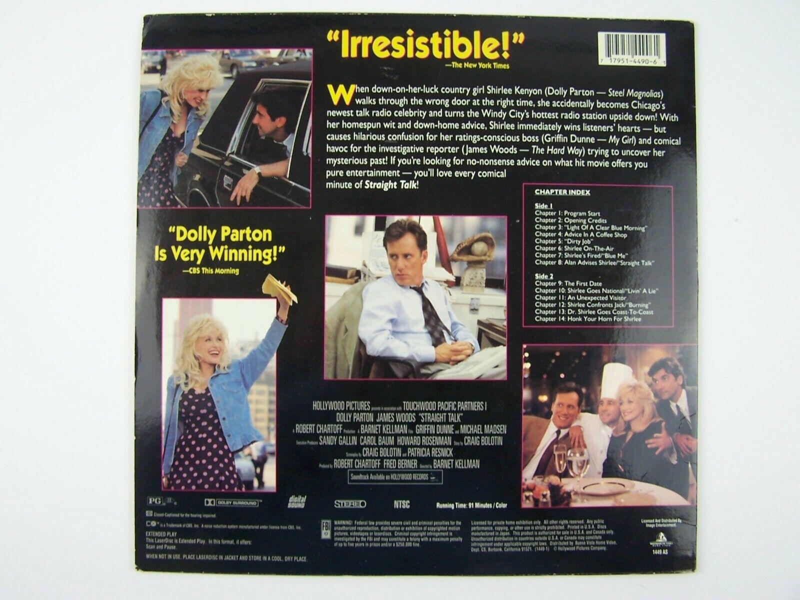 Straight Talk LaserDisc LD 1992 1449 AS