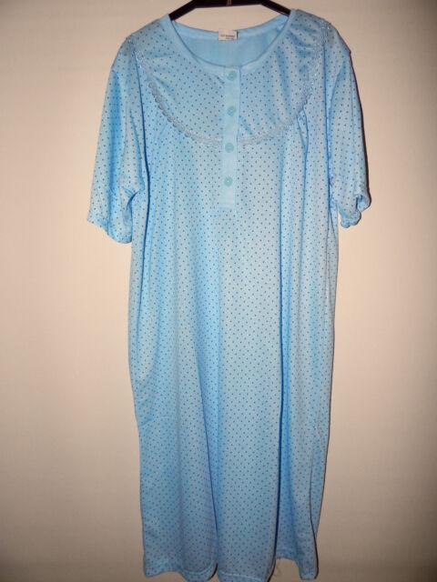 Damen Nachthemd Gr.44 - 46 / L , mit Punkten, DNH/160-1